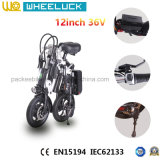 36V 250W elektrisches faltendes Fahrrad mit dem 12 Zoll-Gummireifen