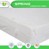 Cubierta de colchón impermeable de la alergia del algodón de la superficie superior de Terry