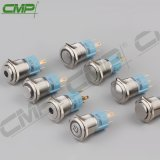 Interruttori di pulsante illuminati indicatore luminoso del metallo LED del CMP 16mm fuori dall'interruttore
