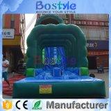 최신 판매 물은 0.5mm PVC를 가진 거대한 팽창식 활주를 탄다