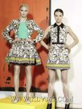 Sommer-Dame-beiläufiges Sleeveless Blumendruck-Kleid