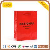 Roter nationaler Schmucksache-Beutel, Geschenk-Papierbeutel, überwachen Papierbeutel