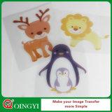 Bon vinyle imprimable de transfert thermique de couleur foncée de Qingyi pour le T-shirt