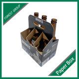 Corrugated 6 несущих коробки вина пива бутылок пакета упаковывая