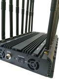 14 emittente di disturbo del cellulare delle antenne 3G 4G per controllo 433 di Lojack Wi-Fi+Remote 315 emittente di disturbo senza fili di GSM del segnale del cellulare della radio a frequenza ultraelevata +Lojack di 868MHz +GPS +VHF/