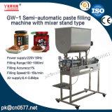 Máquina de enchimento semiautomática da pasta com tipo do carrinho do misturador