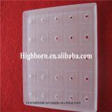 Meuler de haute qualité arénacés Feuille de verre de silice de perforation