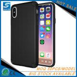 Schwarze kleine MOQ verkaufen guten Noten-Gefühl-Handy-Deckel für iPhone X im Einzelhandel