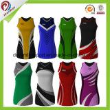 Sublimação personalizados uniformes Netball Mulheres Netball Jersey por grosso