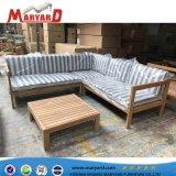 Sofá de madeira de alta qualidade definir modelos para exterior de teca Sofá