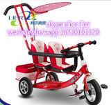 Venda por grosso de alta qualidade de dois lugares bebê/Kid/Filhos de triciclo