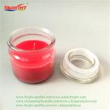 Красный движении толстых ароматические свечи с Crystal Reports Jar крышки багажника