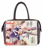 広州の工場Fashion Tote Women Bag新しいPU革混合されたカラーデザイナー女性