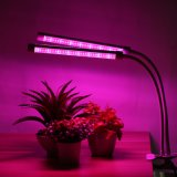 18W dual head todo o espectro de intensidade da luz crescer LED com pescoço de cisne de 360 graus