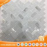 Wthie 유리제 모자이크 Carrara 헤링본 최고 잉크 제트 유리제 도와 벽돌 (M424002)