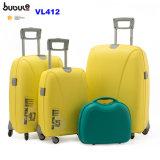 El bolso del equipaje del recorrido del balanceo de Bubule fija venta caliente maleta de la carretilla de 3 PP del pedazo con el rectángulo cosmético Vl412