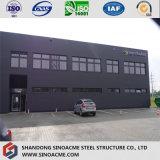 Edificio galvanizado casa prefabricada del almacén del marco de acero de Assemabled de la calidad