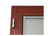 Porta de madeira folheada de alumínio de vidro do dobro novo do projeto