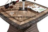 Tabela de alumínio ao ar livre/do jardim/Patio/Rattan& com Tabletop de mármore HS7616dt