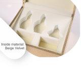Señora Wooden Wrapped de la manera con el rectángulo del cosmético del papel de la especialidad del oro