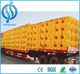 Las barreras de plástico amarillo para la venta de la barrera de carretera pesos llenas de agua