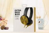 Écouteur bas superbe d'ordinateur de l'écouteur Mdr-Xb450ap de câble plat