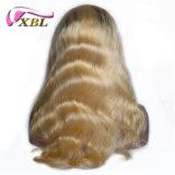 Parrucca bionda superiore del merletto della parte anteriore di colore di Ombre di colore di tono dei capelli due del Virgin
