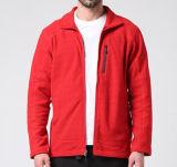 두건 없는 폴리에스테 Softshell 주문 빨간 재킷