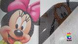 Односторонним напечатанный зрением стикер автомобиля пленки окна этикет винила
