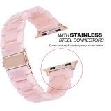 Appleの腕時計の女性の樹脂の時計用バンドバンドのために飾りなさい