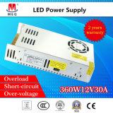 Alimentazione elettrica di commutazione di CC 12V 30A 360W di CA per la visualizzazione di LED SMPS