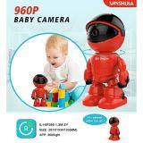 IP CCTV robô 360 graus de vigilância de vídeo segurança WiFi Câmera Monitor de Bebé 960p