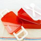 Bento 상자 음식 콘테이너 포크와 숟가락 20015를 가진 플라스틱 도시락
