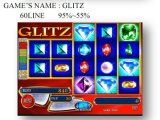 O Glitz-60 Line Máquina de jogo a fichas da máquina de jogo da máquina de jogo do entalhe