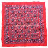 Продукция фабрики Китая подгоняла напечатанный логосом носовой платок пестрого платка хлопка красного цвета 50*50cm большой