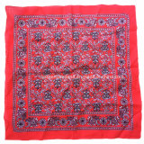 China-Fabrik-Erzeugnis passte Firmenzeichen gedrucktes Baumwollbandanna-grosses Taschentuch des Rot-50*50cm an