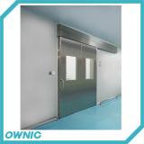 Puerta deslizante automática del acero inoxidable con dos Windows y un precio más barato