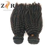 De natuurlijke Weefsels van het Menselijke Haar van de Krul van de Kleur Maagdelijke Indische Kroezige