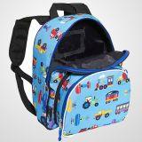 流行車の子供の学校のバックパックのトレイン、平面及びトラックのパック「nの軽食のバックパック