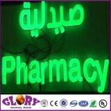 Lettre de la résine Frontlit/ Shop Pancarte de signalisation de résine