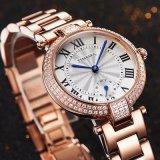 L'orologio di cristallo del quarzo delle signore con 10ATM impermeabilizza la qualità 71041