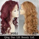 Pelucas llenas del pelo humano del cordón del color de Lilibeuaty Ombre con las pelucas pre desplumadas del pelo de Remy del pelo del bebé para las mujeres negras