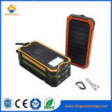 Для использования вне помещений 10000mAh солнечной энергии банка зарядное устройство для мобильных ПК солнечной энергии в чрезвычайных ситуациях