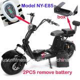 """O veículo elétrico barato do """"trotinette"""" e a motocicleta elétrica com removem a bateria"""