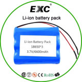 Lithium Ion Battery Icr18650 1s3p 3.7V 6600mAh 18650 Battery