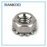 Type écrou de blocage de l'hexagone K avec du matériau d'acier inoxydable