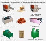 Diente de madera de madera brillante mundial elegir un palillo de la máquina Línea de producción