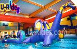 Het vliegende Opblaasbare Spel van het Zwembad Gragon