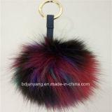 Faux della peluche/anelli chiave falsi della pelliccia POM POM