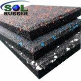 Mattonelle di pavimentazione di gomma di ginnastica ad alta densità per zona resistente